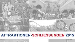 Freizeitpark Attraktionen-Schließungen 2015