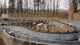 Eifelpark Gondorf – Gondorfer Piratenschlacht wird von Festung umrahmt (Baustellenbilder)