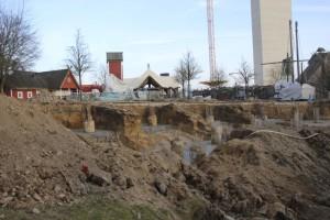Hansa-Park - KÄRNAN Baustelle - Die Bohrpfahlköpfe sind freigelegt