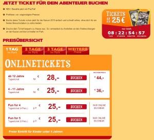 Heide Park Ticket-Angebot für Frühbucher 2015