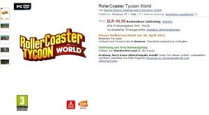 RollerCoaster Tycoon World Erscheinungsdatum
