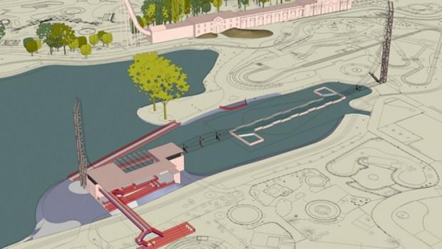 Walibi Belgium Power Splash Konzeptgrafik