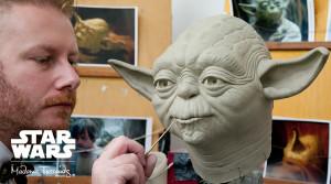 Yoda entsteht in Madame Tussauds Berlin