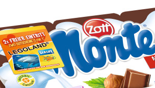 Zott Monte 2-für-1 Freizeitpark-Gutscheine 2015 auf jedem Zott Monte-Multipack