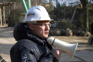 Andreas Leicht im Hansa-Park - Kärnan Baustelle
