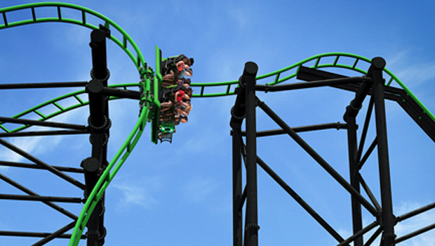 Green Lantern Coaster in Movie World Queensland