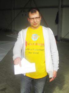 Klaus Peter Beier - Rekord-Papierboot im Abenteuer Park Oberhausen
