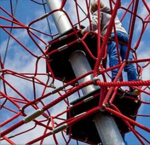 Kletterpyramide im Freizeitpark Traumland - Neuheit 2015