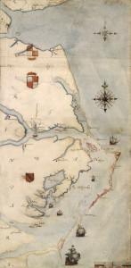 Roanoke historische Karte
