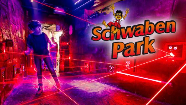 Schwaben Park Neuheit 2015 - Lasertunnel
