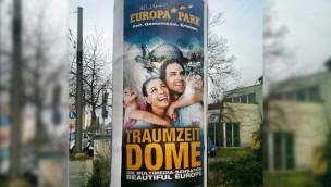 Traumzeit-Dome Enthüllung - Werbeplakat 2015