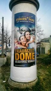 Traumzeit-Dome auf Europa-Park- Werbeplakat 2015