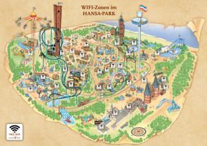 W-LAN Standpunkte im Hansa-Park