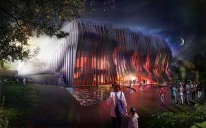In diesem Showpalast im Apassionata-Freizeitpark werdet ihr die fulminanten Vorführungen erleben können. (Foto: © Graft)