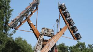 Unfall im Zoo Safaripark Stukenbrock: Flying Oil Pump verliert Teil der Verkleidung