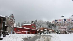 Fort Fun Abenteuerland - Schnee zum Saisonstart 2015