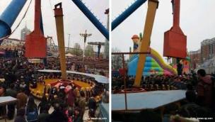 """Unfall in China: Gondel von """"Frisbee""""-Fahrgeschäft abgebrochen"""