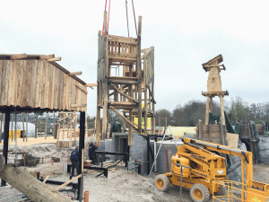 Jaderpark Neuheit 2015 - Baustelle 2