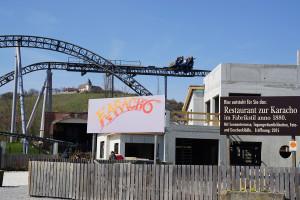 Karacho Restaurant Baustelle 2015 in Tripsdrill