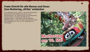 Muttertag 2015 kostenlos im Zoo Safaripark Stukenbrock