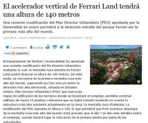 PortAventura - Ferrari Land Achterbahn Weltrekord Quelle