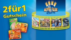 Movie Park Germany 2-für-1 Gutschein 2015 von Wiesenhof erhältlich