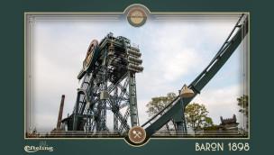 Erste Testfahrt des Baron 1898 – neue Achterbahn in Efteling fährt
