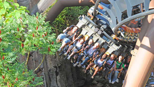 Black Mamba Inverted Coaster im Phantasialand