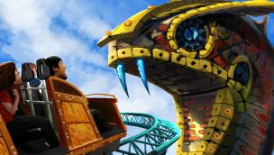 """Busch Gardens Tampa stellt neue Achterbahn """"Cobra's Curse"""" für 2016 im Detail vor"""