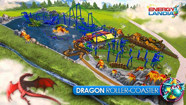 EnergyLandia Dragon Achterbahn 2015