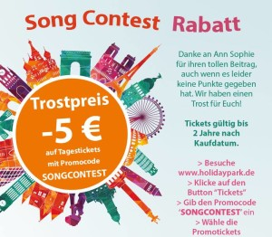 Eurovision Song Contest 2015 Rabatt im Holiday Park