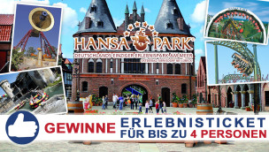 Gewinne ein HANSA-PARK-Erlebnisticket für bis zu 4 Personen beim Freikarten-Freitag KW20/2015