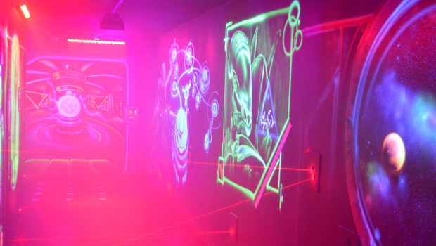 Laserparcours im Rasti-Land 2015