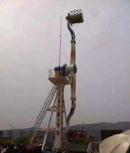 Propeller Fahrgeschäft Unfall China