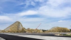 """Tayto Park eröffnet Holzachterbahn """"The Cú Chulainn Coaster"""" am 5. Juni 2015"""