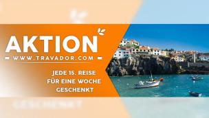 Mit Travador kostenlos in den Urlaub: jede 15. Reise gibt's geschenkt