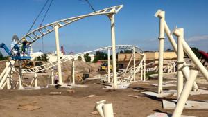 Belantis Achterbahn 2015 Baustelle