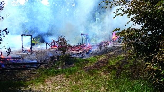 Brand des Wald-Show-Set im Fort Fun Abenteuerland