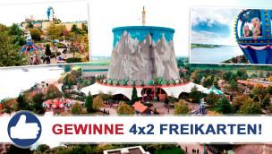 Gewinne 4×2 Eintrittskarten für Kernie's Familienpark beim Freikarten-Freitag KW24/2015
