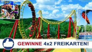 Gewinne 4×2 Eintrittskarten für das Freizeitland Geiselwind beim Freikarten-Freitag KW23/2015