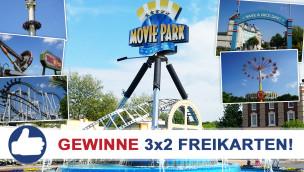 Gewinne 3×2 Eintrittskarten für den Movie Park Germany beim Freikarten-Freitag KW26/2015