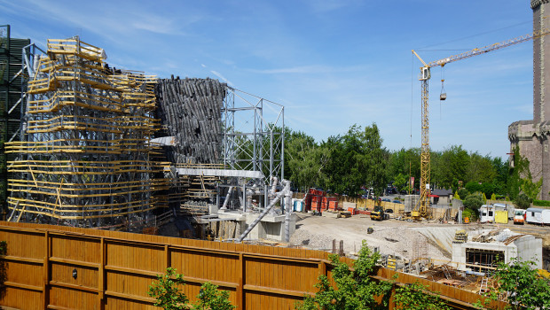 Phantasialand Baustelle von Klugheim im Juni 2015 2