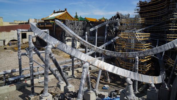 Phantasialand Taron Achterbahn Bau 1 im Juni 2015