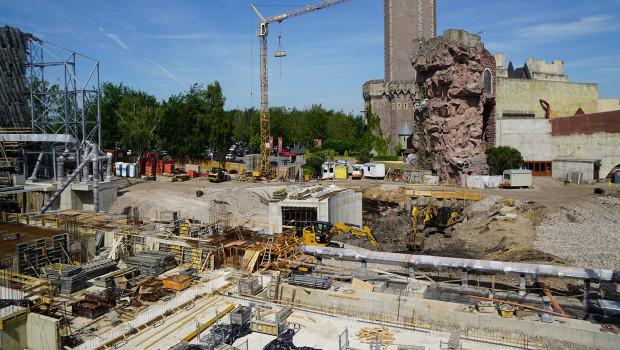 Phantasialand Taron Katapultstart Baustelle im Juni 2015