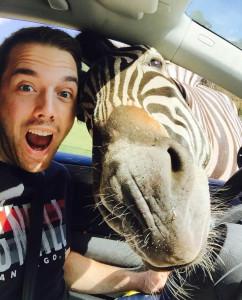 Selfie des Jahres 2015 im Serengeti Park