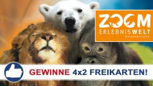 Gewinne 4×2 Eintrittskarten für die ZOOM Erlebniswelt beim Freikarten-Freitag KW25/2015