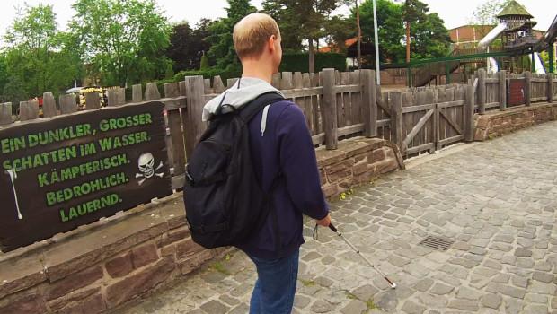 Blind im Heide Park