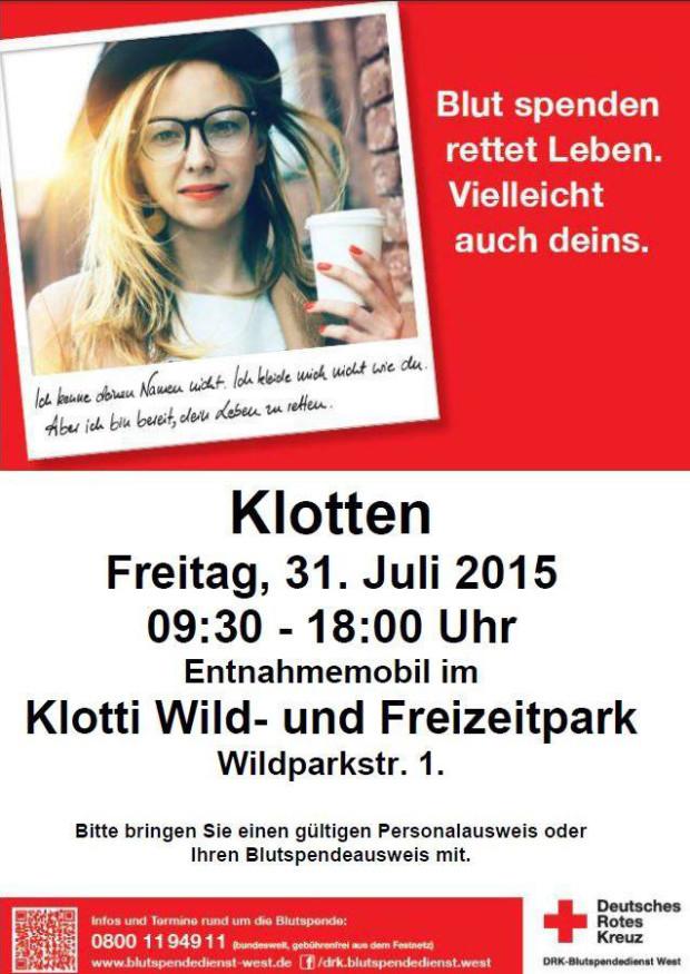 Blutspende im Freizeitpark Klotten 2015