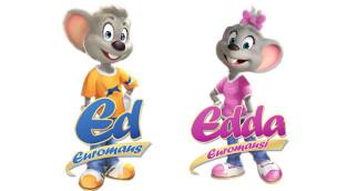 Ed Euromaus & Edda Euromausi - Europa-Park-Maskottchen