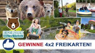 Gewinne 4×2 Eintrittskarten für den Eifelpark Gondorf beim Freikarten-Freitag KW29/2015